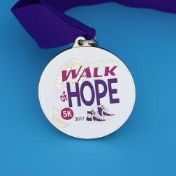 Walk of Hope 5K Custom medals_GS-JJ.com