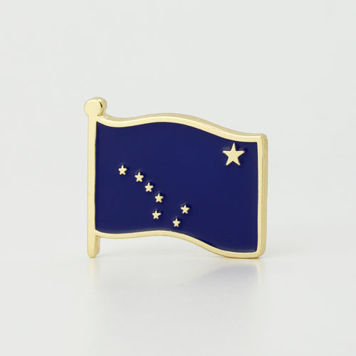 Alaska flag lapel pin