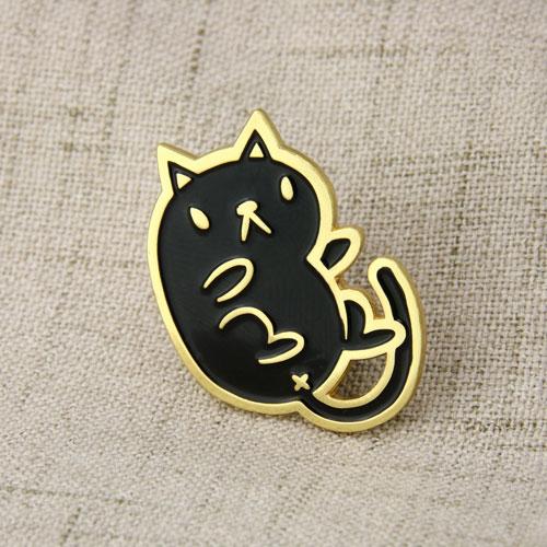 Black Cat Lapel Pins-GSJJ