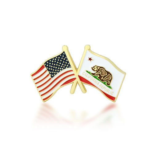 California and USA pins -GSJJ