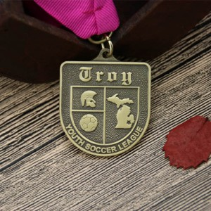 Youth Soccer League Customized Medals