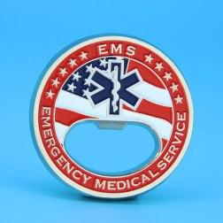 EMS Challenge Coin Bottle Opener