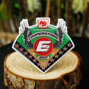 Offset printd Edison Eagles Trading pins,gs-jj.com
