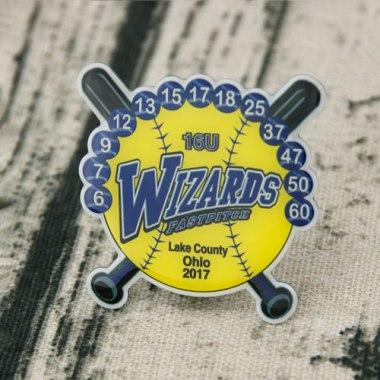 Offset printed Wizards Baseball Trading Pins,gs-jj.com