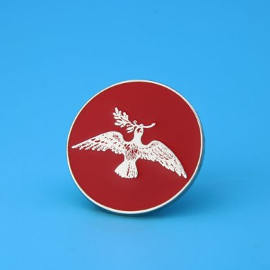 Pigeon And Olive Branch Custom Enamel Pins,gs-jj.com