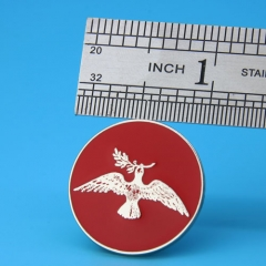 Pigeon And Olive Branch Custom Lapel Pins,gs-jj.com