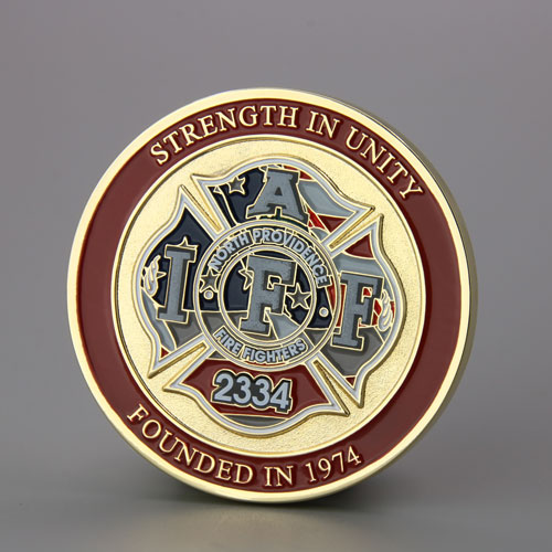 North Providence Firefighters Custom Coins Cheap_back